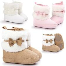 Baby Girl Bowknot Keep Warm Soft Sole Snow Boots Soft Crib Shoes Toddler Boots