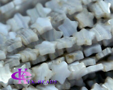 Natural Blue Lace Agate Purple Agate Star Shape Loose Small Beads 4-10mm