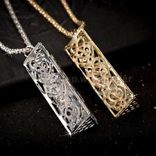 Fashion Vintage Retro Long Hollow Pendant Sweater Necklace Chain Jewelry A6O3