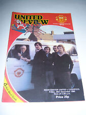 MANCHESTER UNITED v LIVERPOOL 1980/81 VOL42 #15 - DIVISION 1 FOOTBALL PROGRAMME