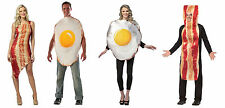 Adult size Bacon and Eggs Couple Costumes - 2 styles - Foodie Breakfast fnt