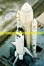 Space Shuttle Columbia Photo Military Color NASA USAF Rocket Booster Launch Pad