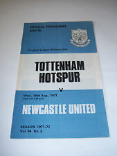 TOTTENHAM HOTSPUR v NEWCASTLE UNITED 1971/72 VOL64 #2 DIV 1 - FOOTBALL PROGRAMME
