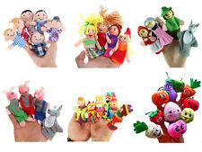 Prevalent Family Finger Puppets Cloth Doll Educational Hand Cartoon Animals Toy