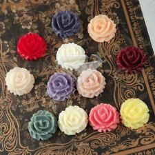 6/12pcs Resin Flowers Flatbacks Wholesale Fit Cabochons Settings Rings 15x15mm