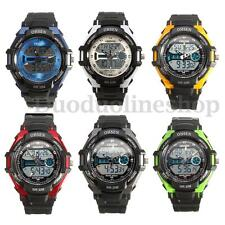 OHSEN Fashion Waterproof Digital LCD Alarm Date Men Sporting Analog Wrist Watch