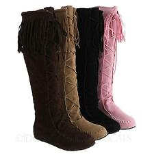Ladies Knee Length Lace Up Fashion - Knee-High Boots AU sz 4 5 6 7 8 9 10