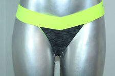 Pink By Victorias Secret Extra Low Rise Seamless Thong Panty Color Yellow Nwt