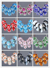 New 5Pcs Silver MURANO GLASS BEAD LAMPWORK Fit European Charm Bracelet  20Color