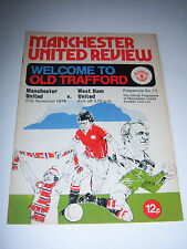 MANCHESTER UNITED v WEST HAM UNITED 1976/77 VOL38 #13 DIV 1 - FOOTBALL PROGRAMME