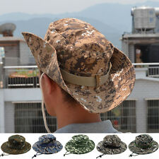 New Mens Camo Military Boonie Cap Sun Fishing Hiking Touring Bucket Army Hat Hot