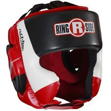 Ringside Ultra Light Sparring Boxing Headgear - Red/White/Black