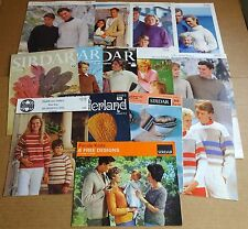 MULTI-LIST SELECTION OF VINTAGE SIRDAR  FAMILY  KNITTING PATTERNS