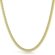 5mm Two Tone Italian 925 Silver 14K Gold Cuban Chain Necklace