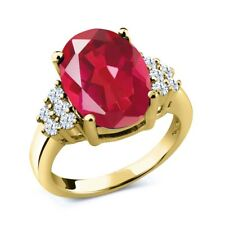 4.30 Ct Oval Last Dance Pink Mystic Quartz 18K Yellow Gold Plated Silver Ring