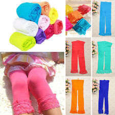 Kids Girls Baby Velvet Pants Stretchy Skinny Leggings Warm Trousers Tight AS