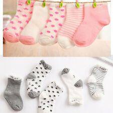 5 Pairs Baby Boy Girl Cartoon Cotton Socks NewBorn Toddler Kids Soft Sock Cute