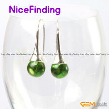 10mm Round Beads Tibetan Silver Dangle Jewelry Fashion Earrings For Women Gift