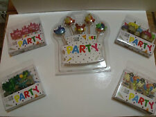 CLUB GREEN Party Candles - Princess Cupcake Dinosaurs Pirates Fish + FREE RIBBON