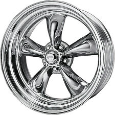16x7 Polished American Racing Vintage Torq Thrust II Wheels 5x4.75 +0 CHEVROLET