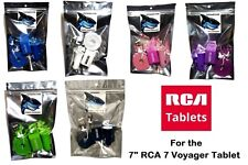 """For 7"""" RCA 7 Voyager RCA ,Voyager II Tablet LED Wall & Dual Car Charger & Cable"""