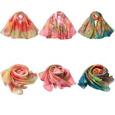 Fashion Lady Womens Wraps Shawl Stole Pashmina Scarves Long Silk Cape Scarf T6T0