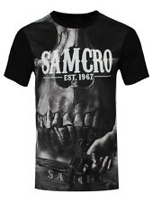 Sons of Anarchy Samcro All Over Print Men's Black SoA T-shirt