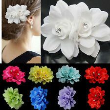 Bridal Flower Hairpin Brooch Wedding Bridesmaid Party Prom Accessories Hair Clip