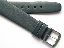 Vintage blue calf leather open end wirelug watch band ~ 17 mm
