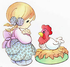 """5.5-8.5"""" PRECIOUS MOMENTS GIRL FARM WALL SAFE STICKER  BORDER CUT OUT CHARACTER"""