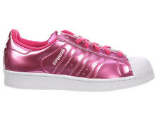 NEW WOMENS ADIDAS ORIGINALS SUPERSTAR CASUAL SHOES TRAINERS PINK / PINK / WHITE