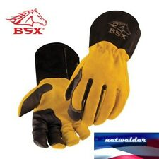 BSX Premium 3 Kidskin Finger Cowhide Back TIG Welding Gloves - BT88