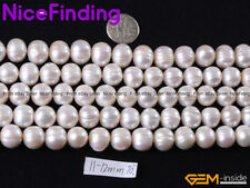AAA Genuine Round Freshwater Pearl Natural Stone Bead For Jewelry Making 11-12mm
