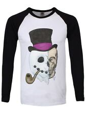 Unorthodox Snowman Men's Black & White Long-sleeve T-Shirt