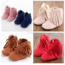 Newborn Toddler Fringe Warm Tassel Boots Baby Infant Boy Girl Soft Soled Shoes