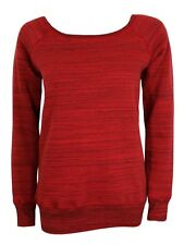 Bella Marble Fleece Wideneck Sweatshirt Women's Red Sweater