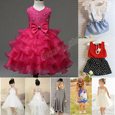 Kids Baby Girls Tutu Dresses Set Camisole Sleeveless Princess Dress Skirt Suit
