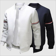 Fashion Mens Slim Casual Sports Jacket Tracksuit Tops Fittness Outerwear Coat