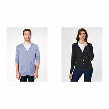 American Apparel Unisex Plain Tri-blend V Neck Cardigan