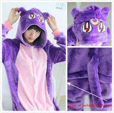 Harajuku Sailor Moon Luna Cat Onesie Adult Anime Animal Kigurumi Pajama Costumes