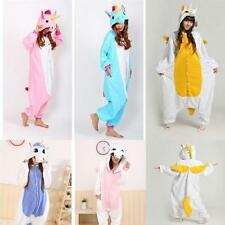 6Unicorn Kigurumi Pajamas Animal Cosplay Costume Unisex Adult Onesie Sleepwear