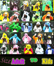 HOT Unisex Adult Kids Onesies Kigurumi Animal Pajamas Cosplay Costume Sleepwear