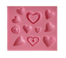 Hearts silicone reusable resin mold mould resin jewelry making crafts hairpieces