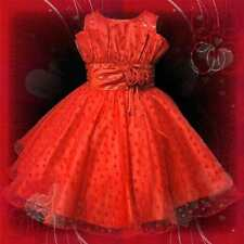 Reds Engagement Pageant Wedding Party Oufit Flower Girls Dresses SIZE 2 to 10T
