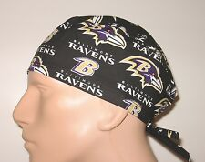 NFL Baltimore Ravens mens surgical scrub cap OR hat