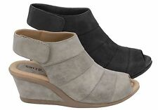 EARTH CORIANDER WOMENS LEATHER COMFORTABLE WEDGE SANDALS/SHOES