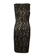 American Living Women's Bonded Sequined Lace Sheath Dress
