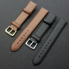 New Quality Leather Black Brown Wristwatch Watch Strap Band Womens Mens