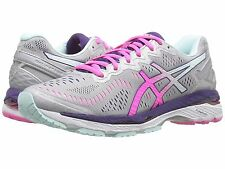 ASICS KAYANO 23 SILVER PINK GLOW WOMENS RUNNING SHOES **ALL SIZES & WIDTHS