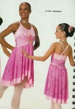Lyrical Dance Costume Artstone Pink Ballet  Leotard based Dress Radiant 459